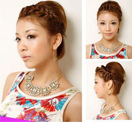织辫子发型步骤和图片