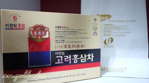 有多項合格認證的高研六年根高麗紅蔘茶
