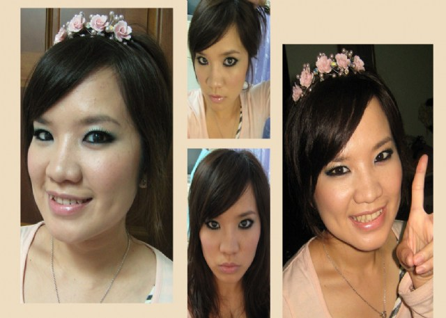 naomi是瘦瘦的女孩~脸也小小的~五官也是小巧型~ 所以要让脸看起来更