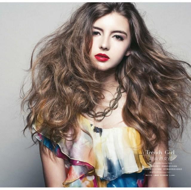 时尚女明星发型跟著走~!图片图片