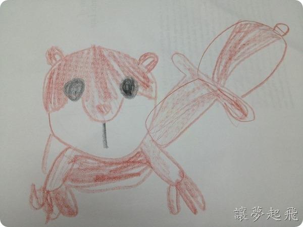 三年級松鼠學生畫畫作品
