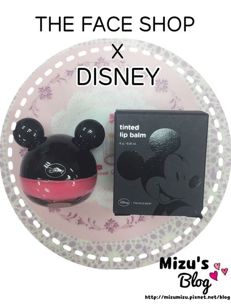 [唇彩]韓國 THE FACE SHOP x DISNEY 米奇潤色護唇膏 02 粉紅色 TINTED LIP BALM 02 SWEET RICH PINK