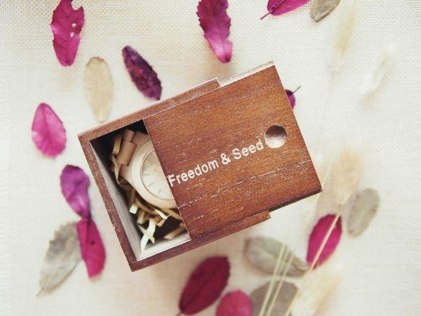 流行 ▍フリーダム&シード質感配件♥Freedom&Seed自然簡約木製腕錶