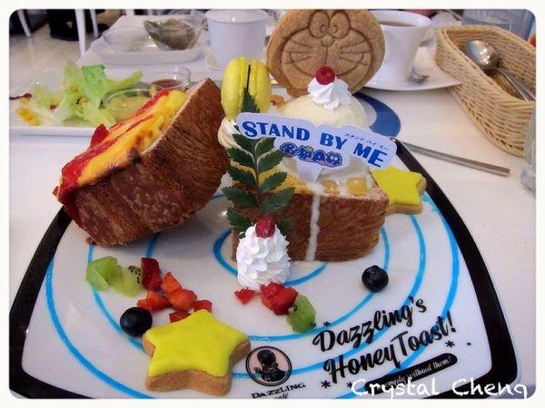 【台中美食推薦】Dazzling Cafe Sky 期間限定的哆啦A夢套餐 傳說中的記憶吐司出現啦!