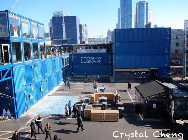 【2016首爾自由行✈建大好玩推薦】Common Ground 貨櫃商場 很有特色藍色空間 附近還有emart好好逛呀!(首爾景點 建大入口站)