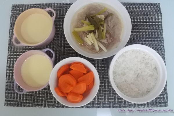 <一歲餐點>滑嫩嫩的蒸蛋和電鍋料理親子餐