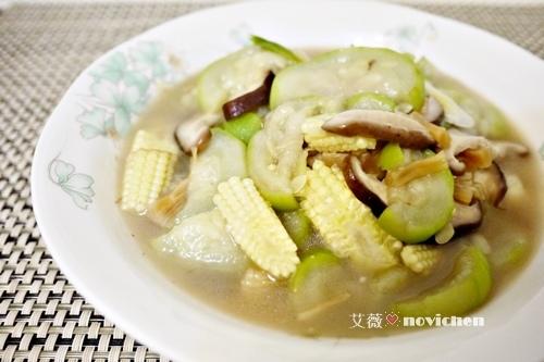 ♥ 艾薇廚房 ♥  中式料理。干貝絲瓜玉米筍