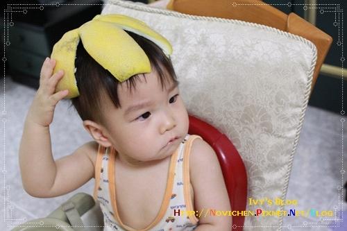 [親子] 3Y1M 戴柚子帽的豆仔