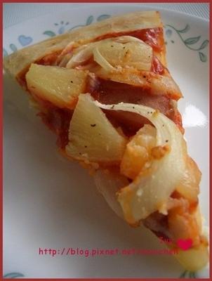 *異國料理* 無起司之夏威夷pizza