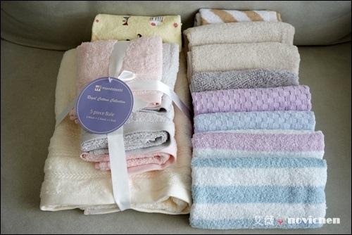 呵護肌膚從現在開始  ♥ HOLA MUNDO 中空紗浴毛巾5件組、HH 低撚棉毛巾