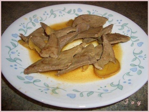 *中式料理* 麻油豬肝