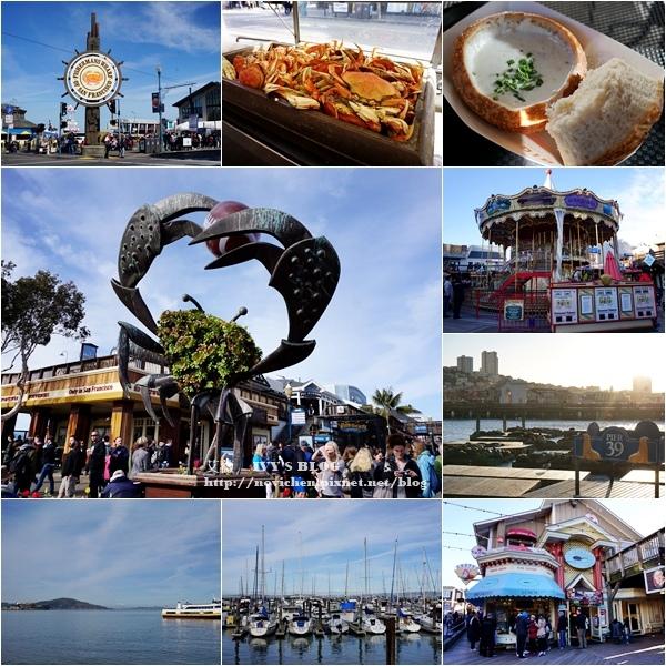 ▌美國加州 ▌【舊金山景點】最熱鬧的綜合購物中心,成群海獅出沒的漁人碼頭 ♥ Fisherman's Wharf ♥
