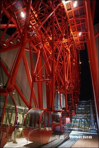 《2014。大阪》【景點】HEP FIVE 摩天輪 & HEP FIVE日式餐廳 ~ 位於市區的火紅摩天輪