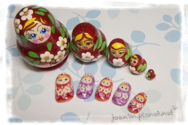 《DIY凝膠指彩》華麗的俄羅斯娃娃
