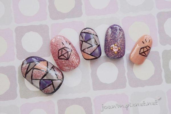 《DIY凝膠指彩》鑽石拼貼透視感-Gelovery