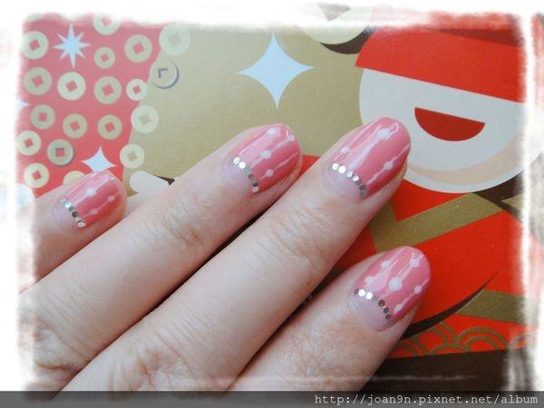 《光療》新年快樂紅白甜美系指彩