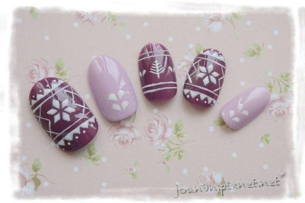 《DIY凝膠指彩》耶誕手繪編織紋-邦妮兔甜心甲油膠
