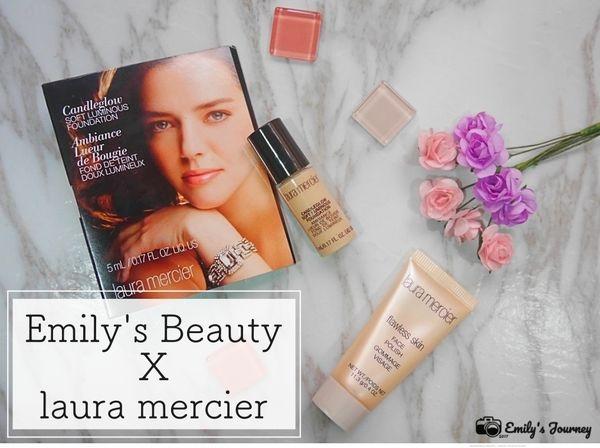 (美妝) Emily's Beauty X laura mercier蘿拉蜜思 迷你燭光聚焦粉底液&角質調理霜