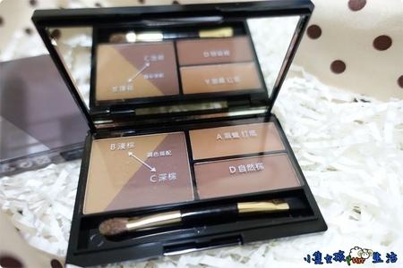 【試貨】適合新手的平價眉粉盒!Miss Hana花娜小姐 立體塑型眉粉餅,可畫眉、鼻影、眼線,四色調和出柔和自然眉型!