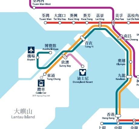香港]迪士尼交通路線教學->前往...