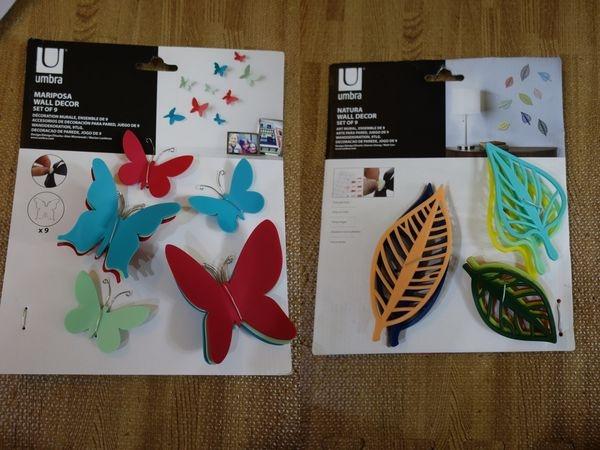 【佈置】HOLA購入UMBRA繽紛蝴蝶壁飾、UMBRA繽紛葉紋壁飾~運用裝飾小道具,也能讓家更美麗