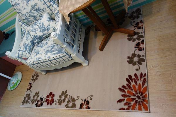 【佈置】特力屋購入~維多利亞地毯(葉蔓)~秋冬必備短毛地毯,好暖好搭好漂亮