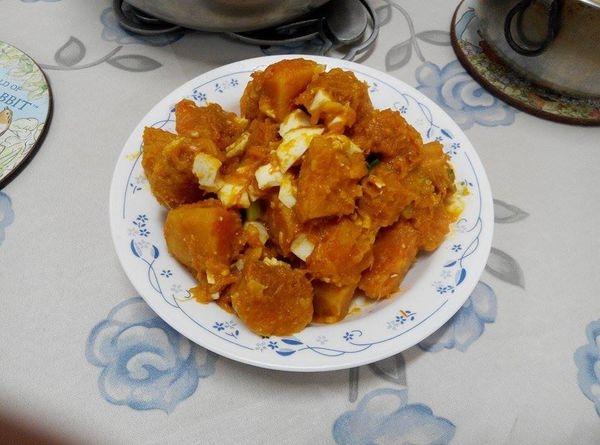 【中式料理】金沙南瓜~就是鹹蛋南瓜