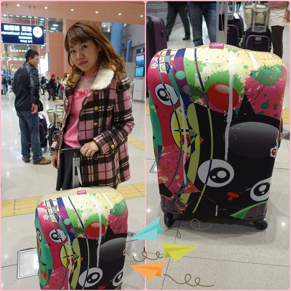 【購物】indulgence 寵愛自己~彩虹 BooBoo Circle of Life行李箱套