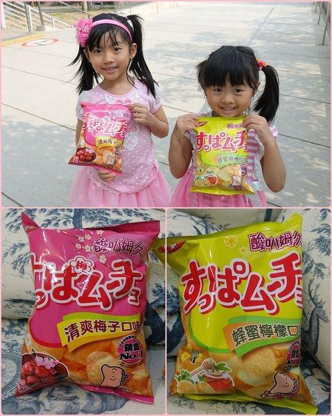 【試吃】來自日本的熱銷商品-酸味系洋芋片 湖池屋「酸叭姆久」清爽梅子口味&蜂蜜檸檬口味