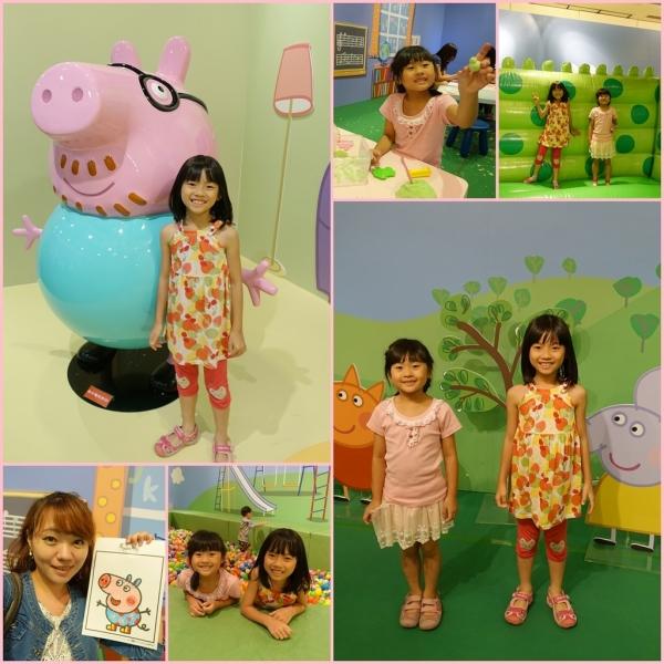 【展覽】高雄夢時代 粉紅豬小妹創作遊樂園特展~小孩最愛的佩佩豬全都在這邊