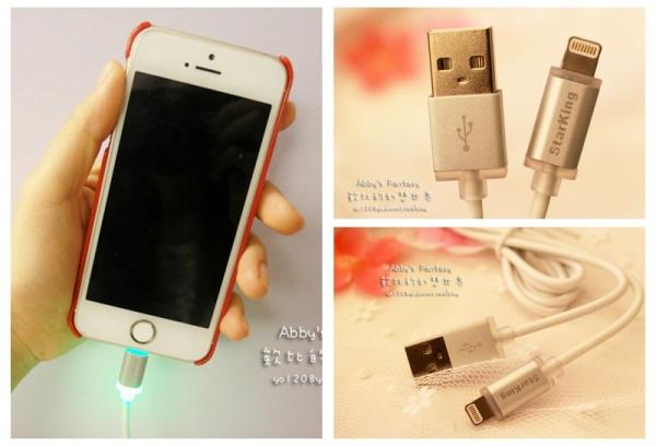 3C ■ 果粉們絕不能錯過的精品配件! Starking Apple LED 智慧型充電傳輸線 1.2M ❤