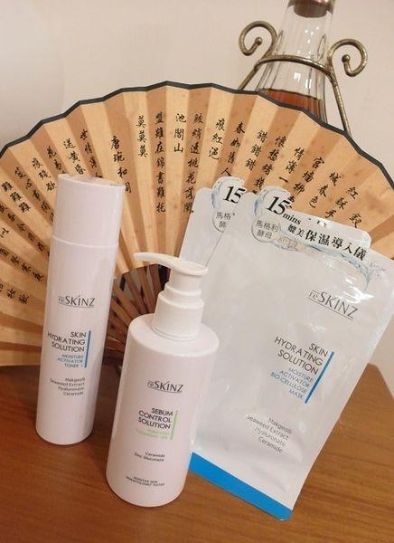 我的美肌修護對策,平價術後專用:韓國皮膚專科研發reSKINZ 瞬透活水超滲透精華活水液(清爽)、清爽淨顏膠、保濕生物纖維面膜