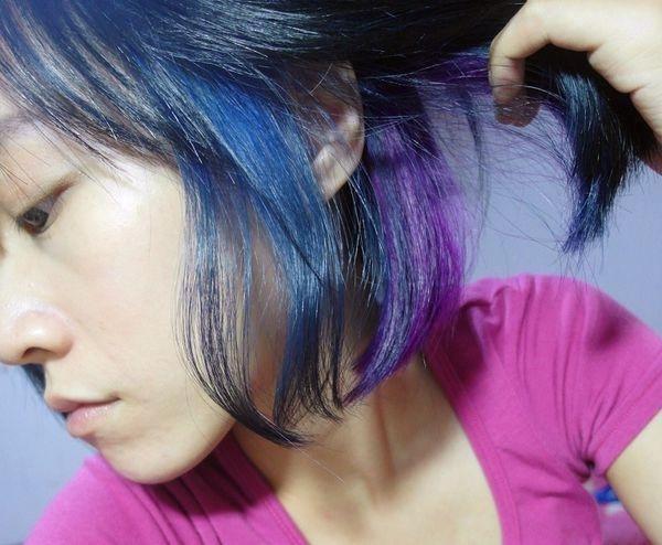 [變髮] 漸層染髮,秋冬神祕感  低調藍x紫