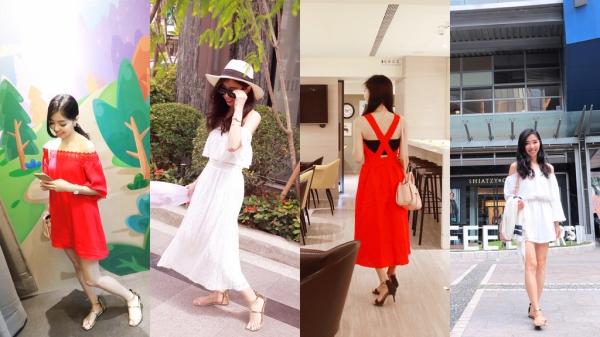 【穿搭】渡假穿搭-紅色&白色.冷靜與熱情之間
