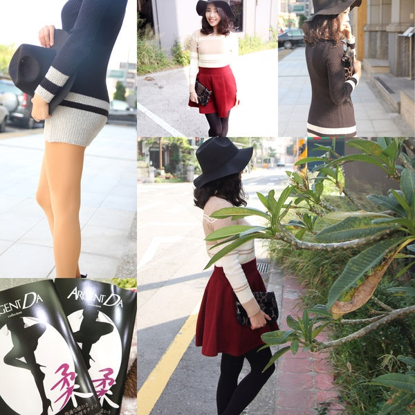 ▌穿搭▌昇溫2度!!秋冬季節輕柔保暖的褲襪搭配❤日本ArgentDa秋冬慕斯褲襪