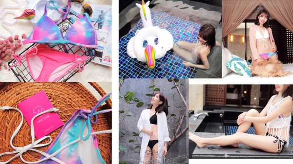 【比基尼】WAVE SHINE 美波神器.秋冬玩水泡湯也要穿美美的泳衣(抽獎)