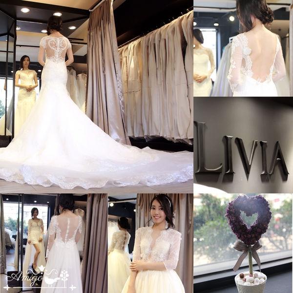 ▌我的時尚週年婚紗▌Livia Bride莉維亞歐美頂級手工婚紗❤白紗禮服篇❤