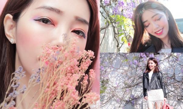 【妝容】Spring春天感高彩度金屬獨角獸系光澤眼妝-3CE/J. Cat Beauty彩妝