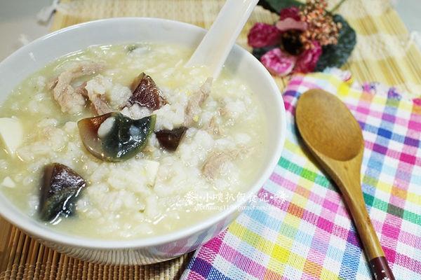 【小噗廚房】皮蛋瘦肉粥(食譜)