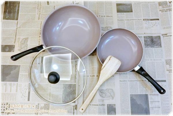 【鍋具】Mama Cook - 香檳紫陶瓷不沾鍋具組 ~ 炒鍋 + 平底鍋