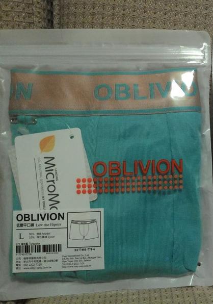 【內褲】OBLIVION - 木代爾透氣低腰無痕平口褲 (男)