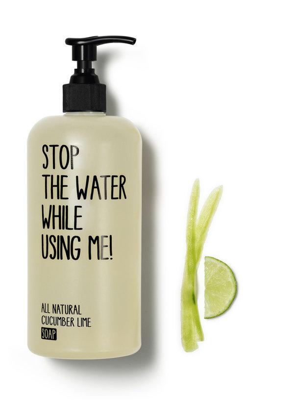 Stop the water while using me! 小黃瓜青檸液體皂 形象圖.jpg