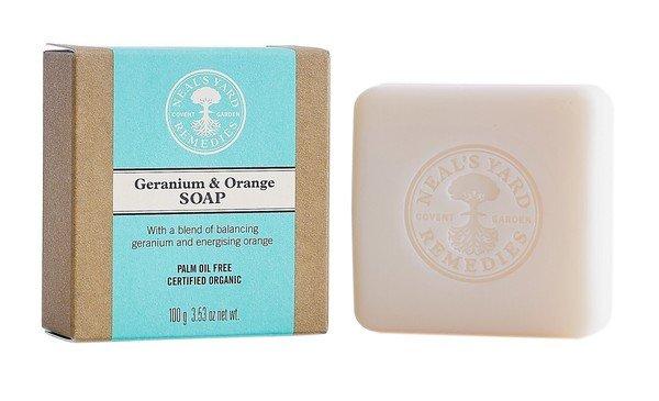 Neal's Yard Remedies 天竺葵香橙香芬皂 100g$360_包裝+皂.jpg