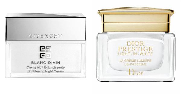 超強淨白修護力 Givenchy 花樣鑽肌淨白晚霜 打造蜜光肌 Dior 再生光燦淨白乳霜