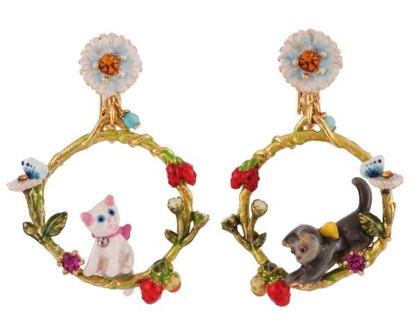 小貓的春日花園 圓形耳環 NT$6600.jpg
