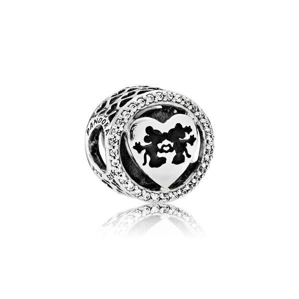 迪士尼米奇與米妮愛情黑色透明鋯石925銀串飾NT$3,680.jpg