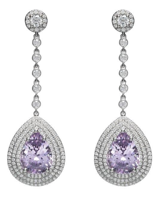Tiffany 鉑金鑲嵌紫色尖晶石與鑽石耳環  NT$2,290,000.jpg