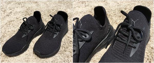 PUMA 黑色編織鞋.jpg