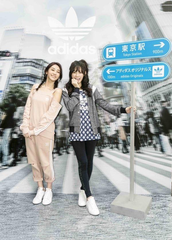 (左起)席惟倫與吳心緹戲外姊妹淘情誼,一同出席adidas Originals 新品預覽會-2.JPG