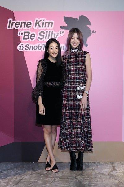 (左起)Snob創意總監Vivienne, Irene Kim.JPG
